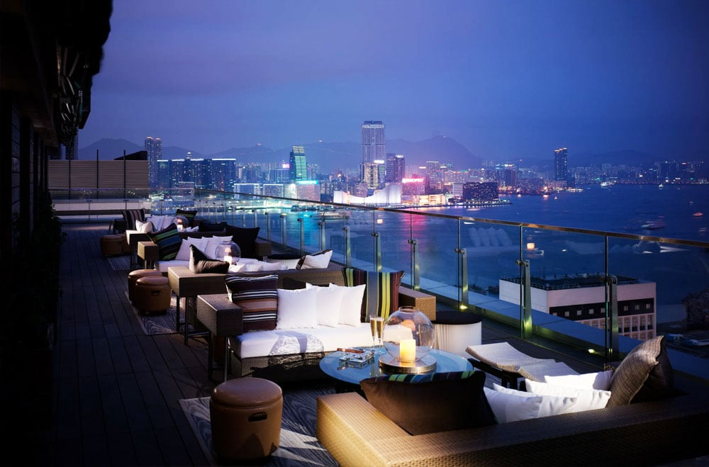 5 x de beste rooftop bars in hong kong for Cuisine x hong kong