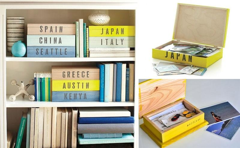 10 woonideeën - Kleurrijke doosjes met souvenirs