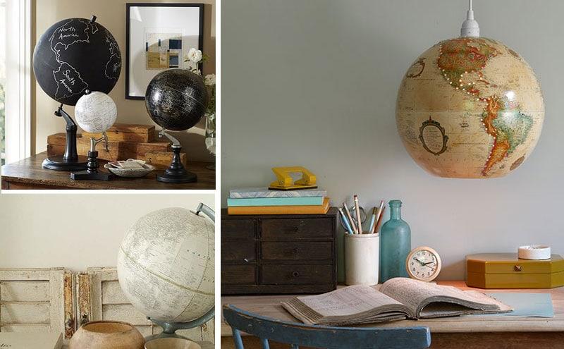 10 woonideeën - Hergebruik oude wereldbollen
