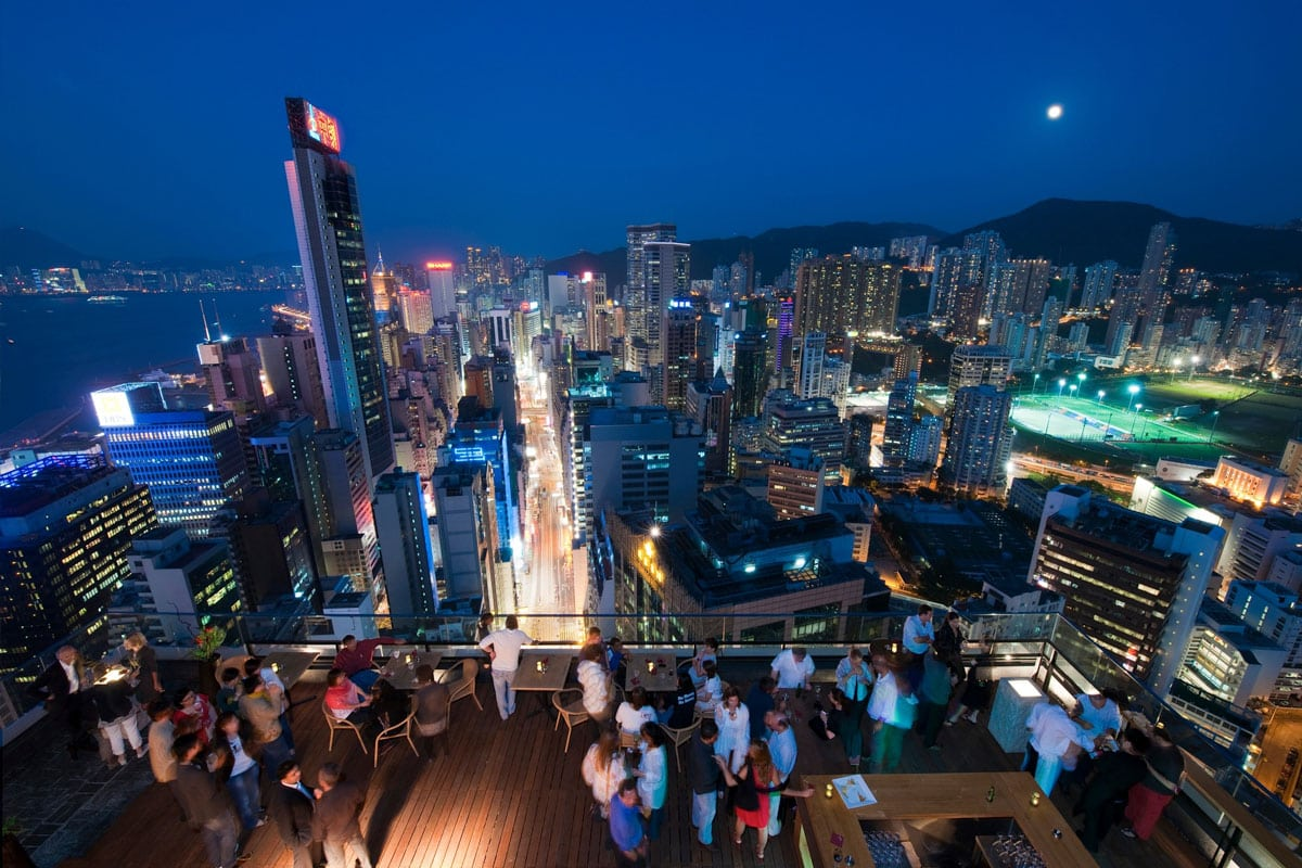 beste rooftop bars hong kong
