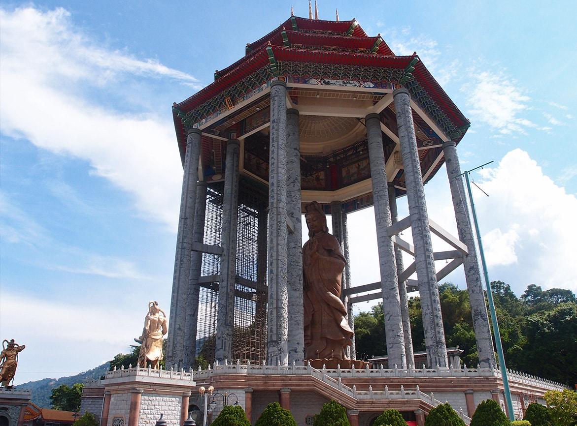 Kek Lok Si tempel in Penang - Kuan Yin beeld
