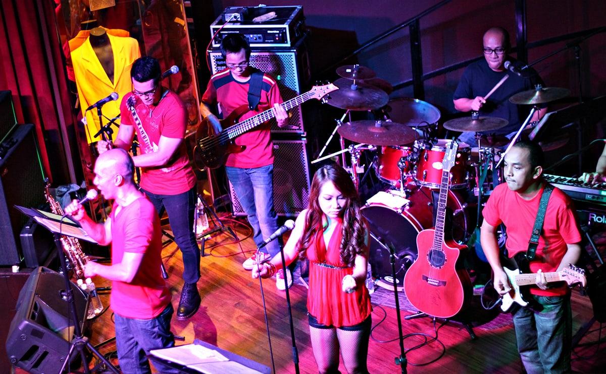 De huisband van het Hard Rock Café in Penang