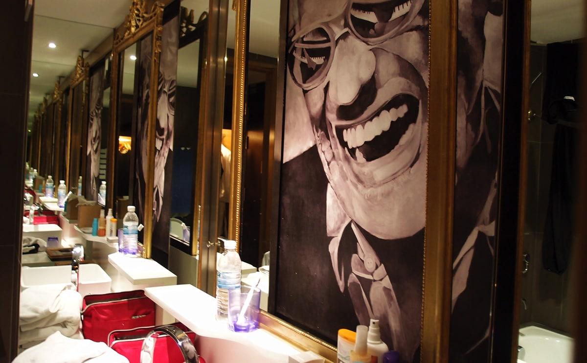 Wastafel van onze badkamer in het Hard Rock Hotel