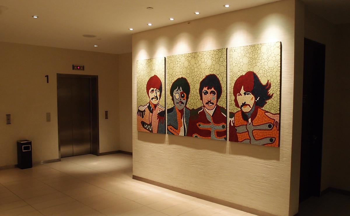Ook de Beatles vind je op meerdere plekken in het Hard Rock Hotel in Penang