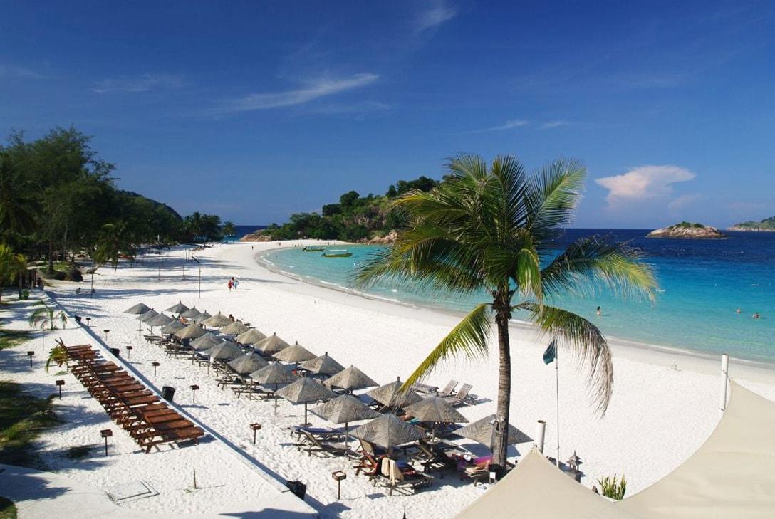 tropische stranden maleisie redang island