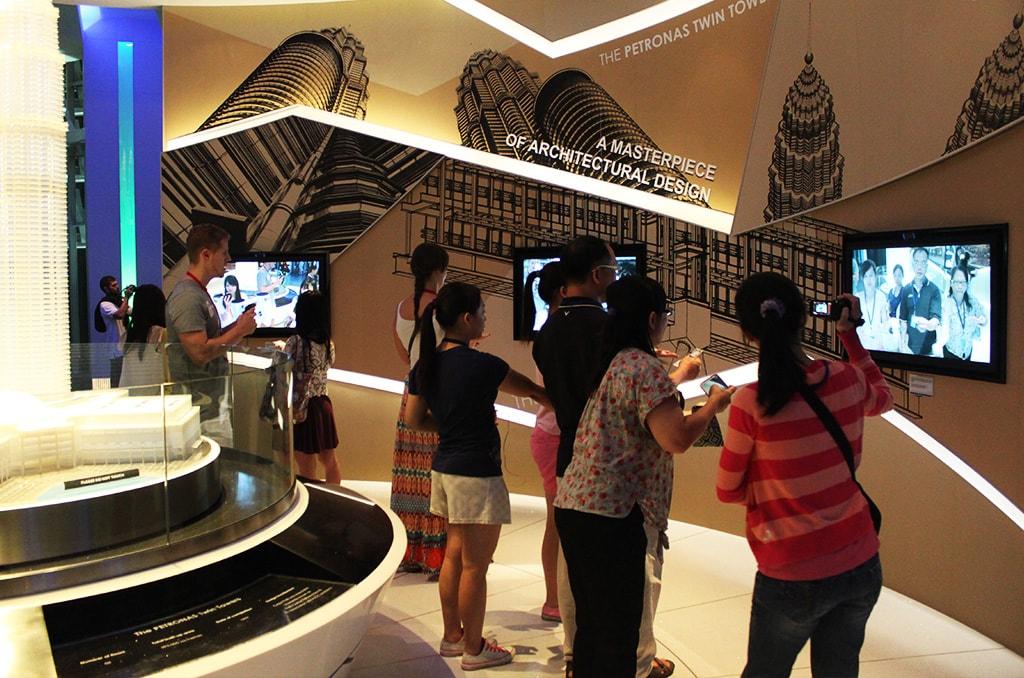 Observatieplatform in de Petronas Twin Towers, Kuala Lumpur