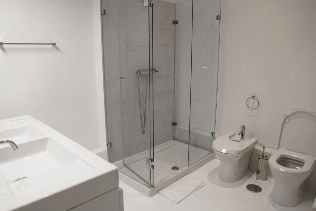 Badkamer van het Correeiros 28 appartement in Lissabon