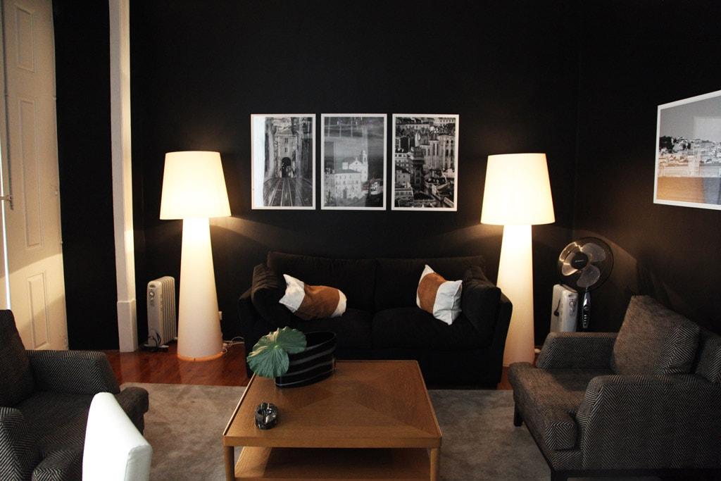 Woonkamer van het Correeiros 28 appartement in Lissabon