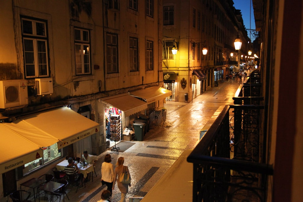 Uitzicht van het Correeiros 28 appartement in Lissabon