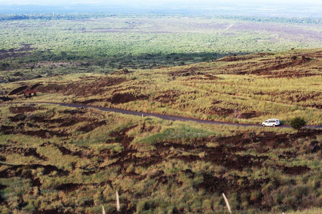 Landschap rondom de Masaya vulkaan in Nicaragua