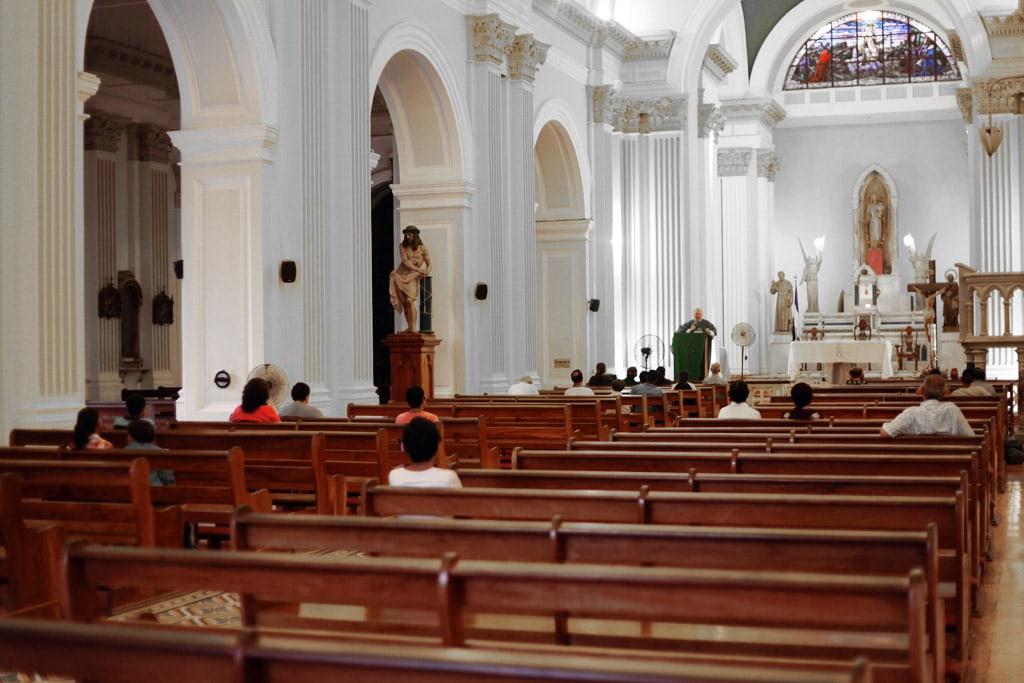 Bezienswaardigheden in Granada, Nicaragua - Kerk in de Iglesia de la Merced klokketoren