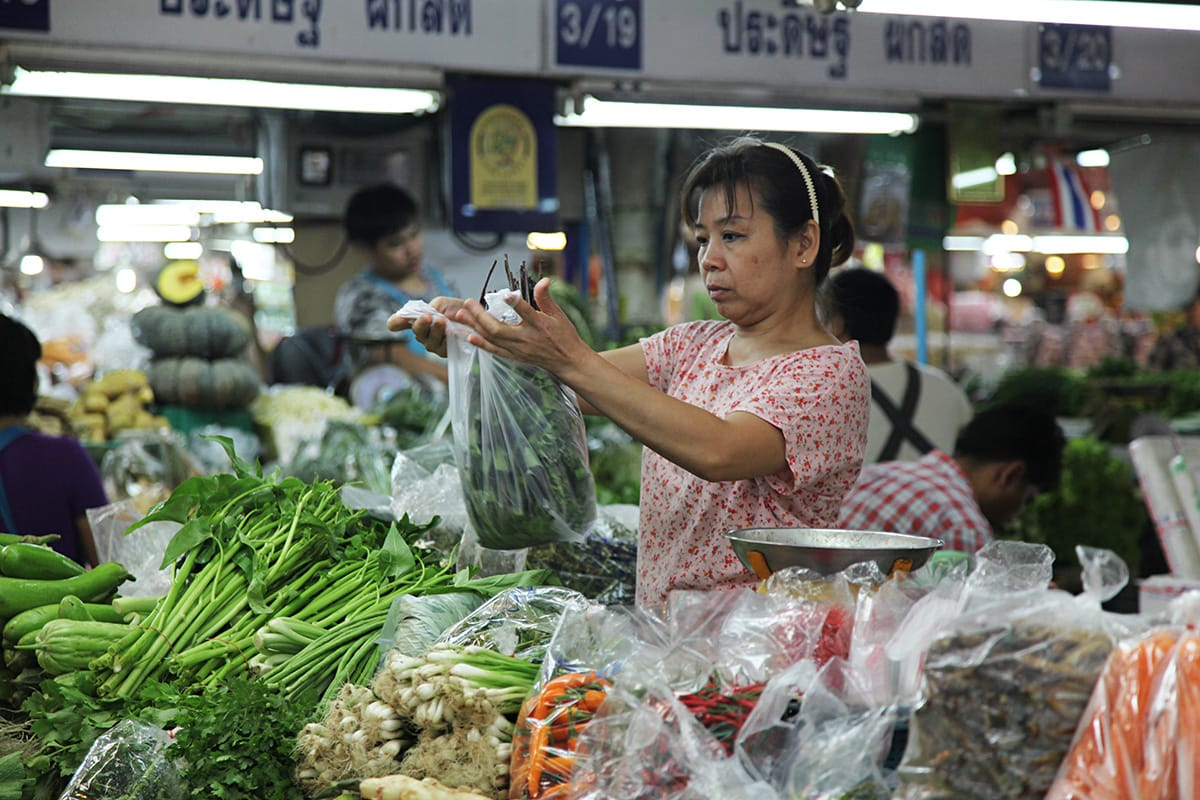 De Otoko markt in Bangkok