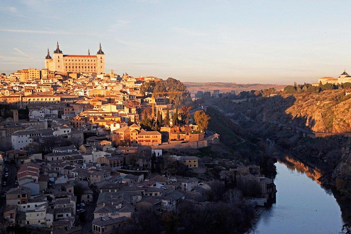 Prachtig uitzicht op Toledo