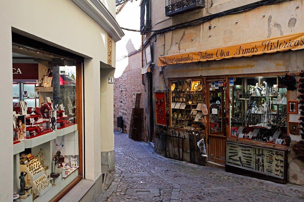 Kleine winkeltjes in het centrum van Toledo