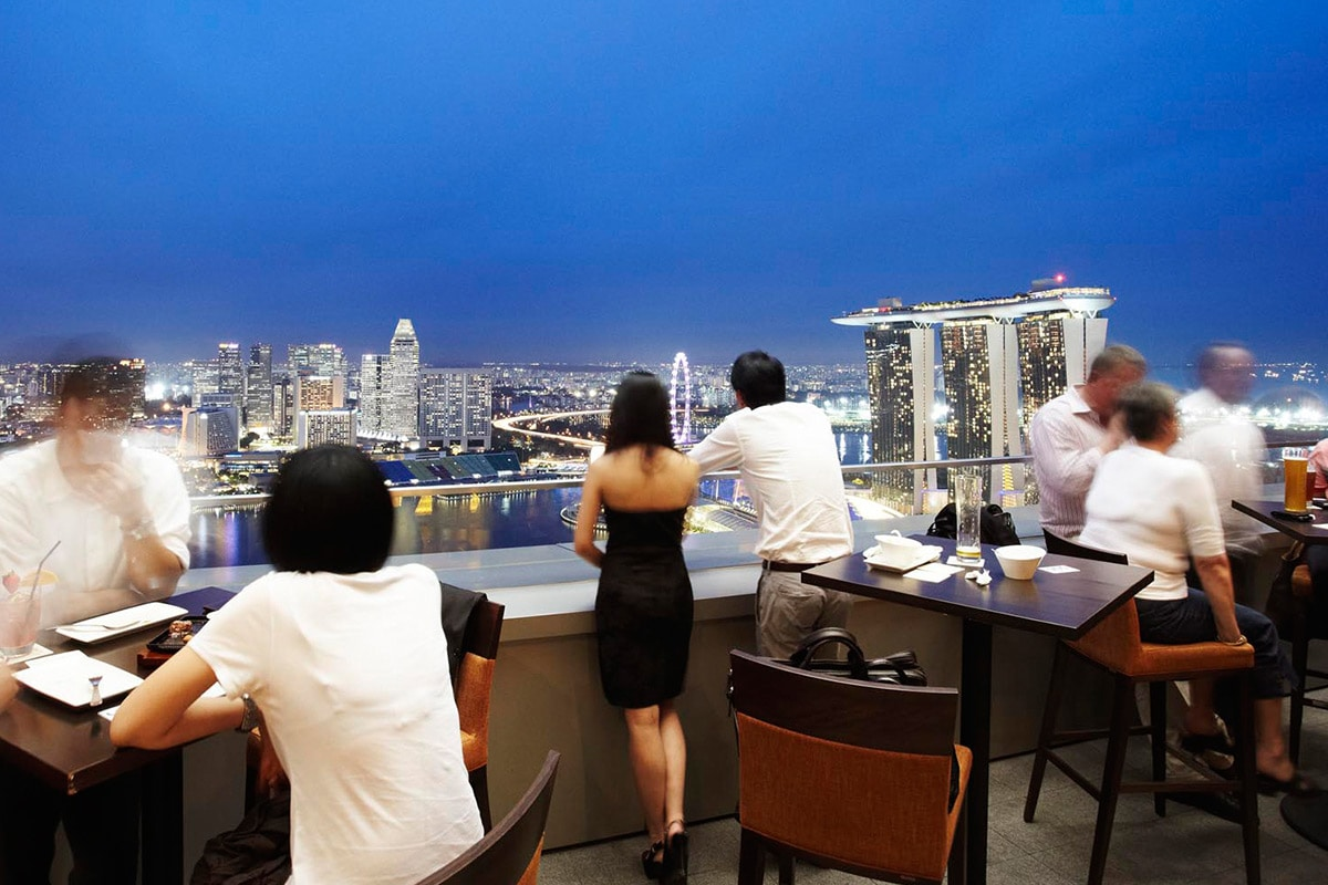 LeVeL33 rooftop bar in Singapore