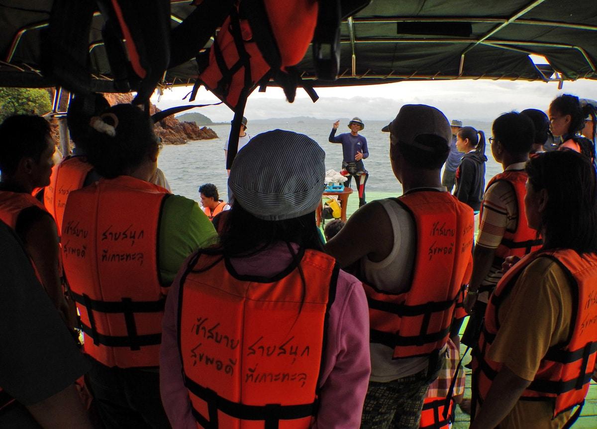 Uitleg over het ecosysteem van het eiland Koh Talu in Thailand
