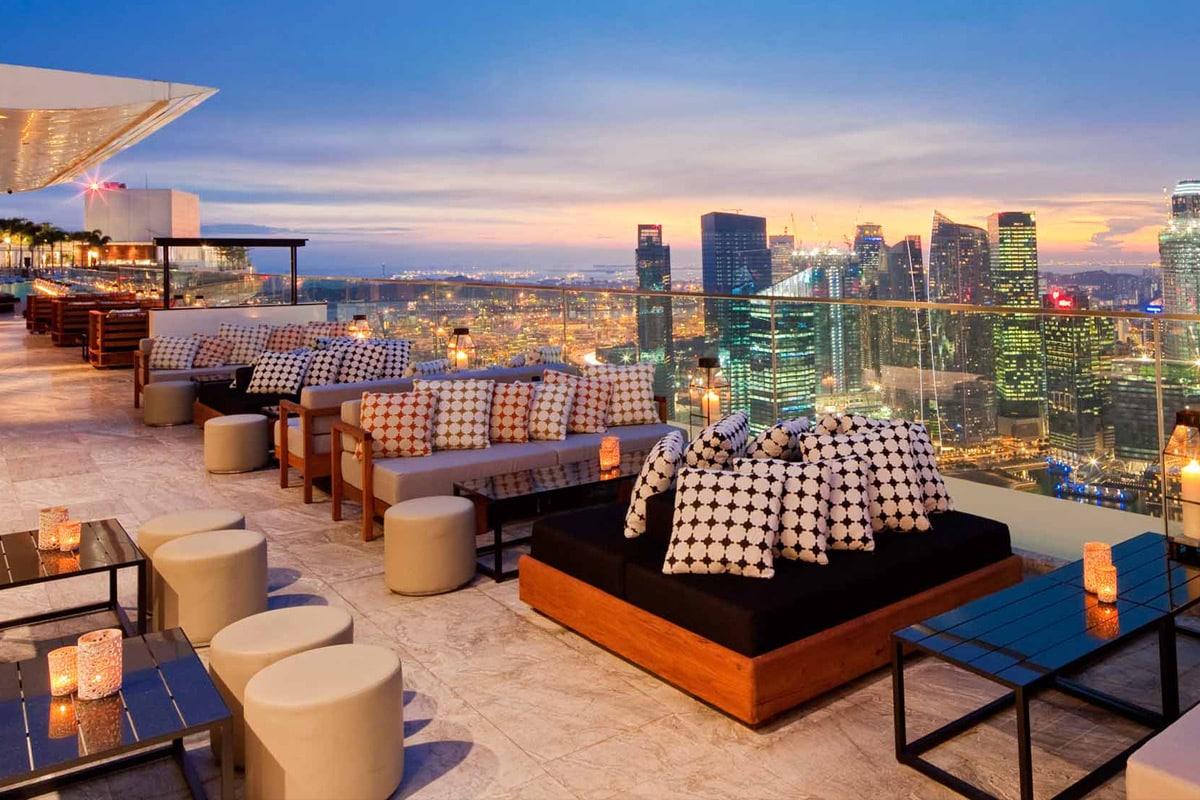 Ku Dé Ta rooftop bar in Singapore