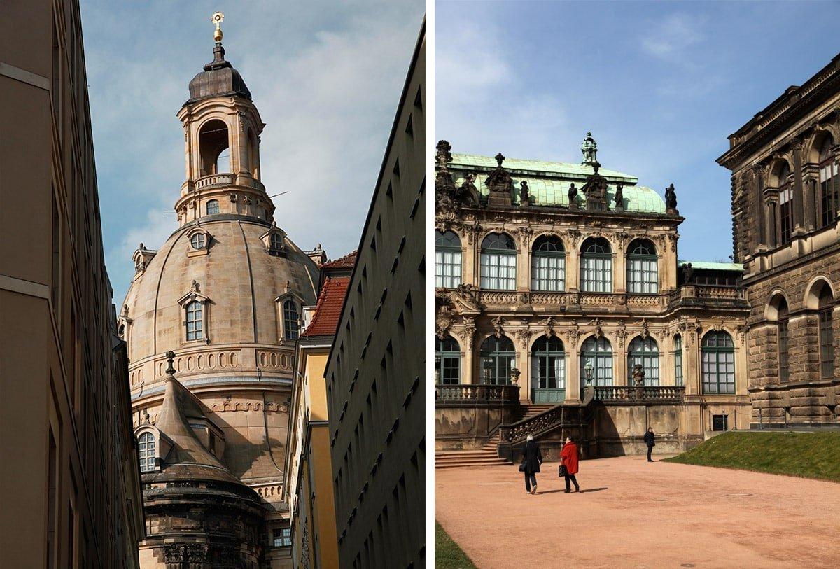 De Frauenkirche en het Zwinger paleis in Dresden