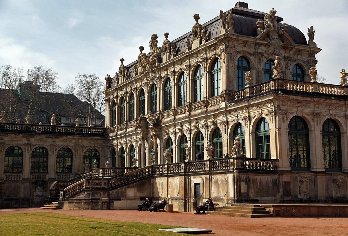 Het Zwinger museum in Dresden
