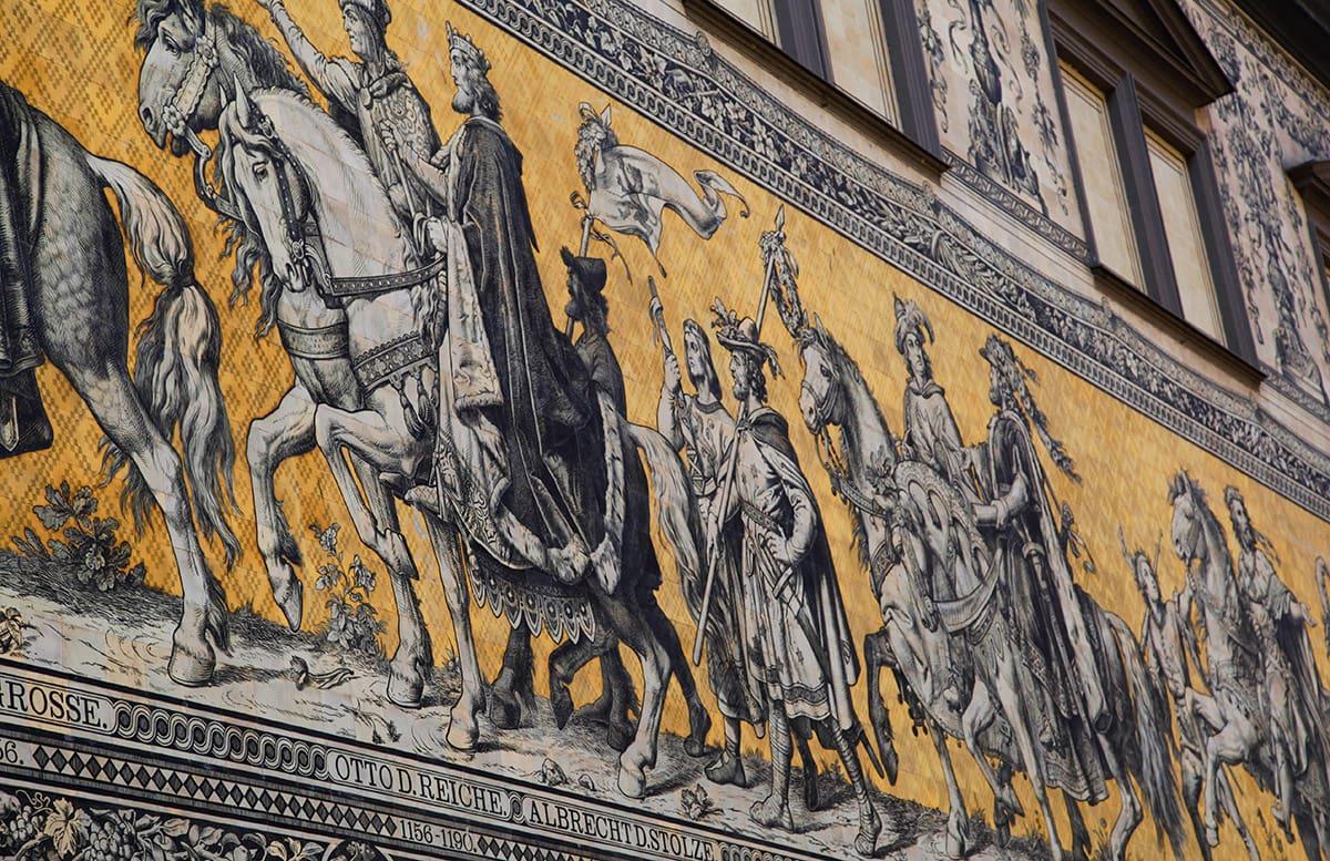 De Fürstenzugn muurschildering in Dresden