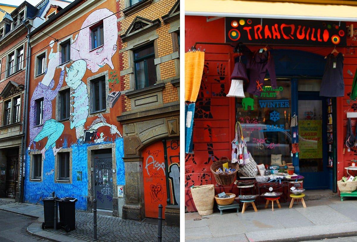 Street art en vintage winkels in Neustadt
