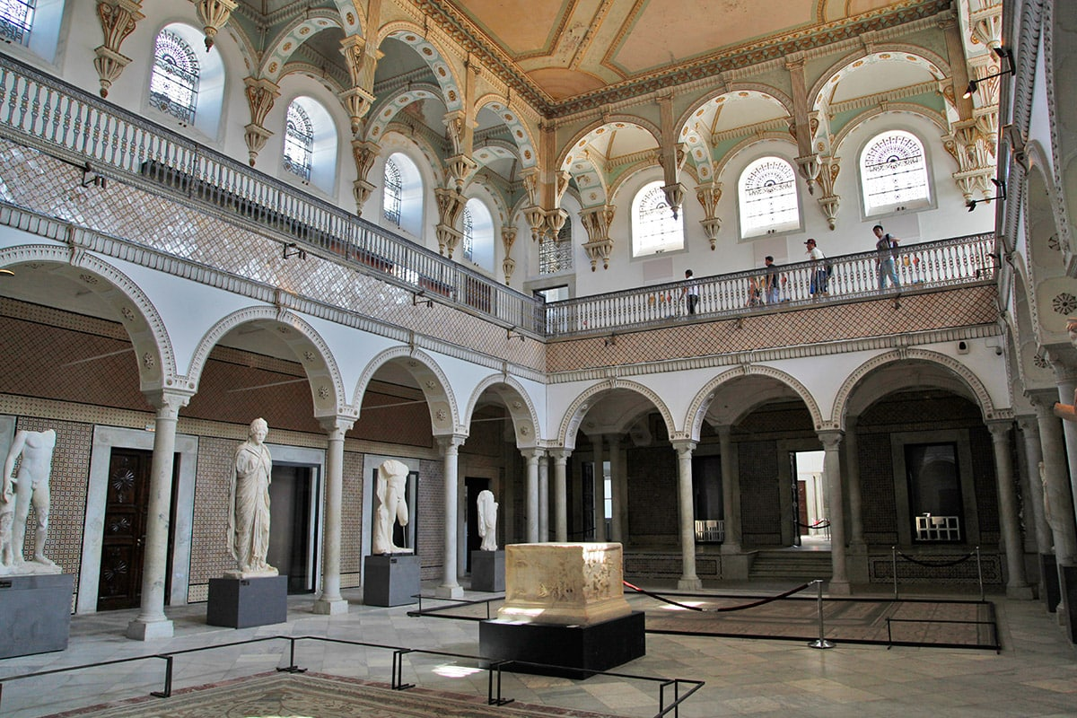 Het Bardo museum in Tunis, Tunesië