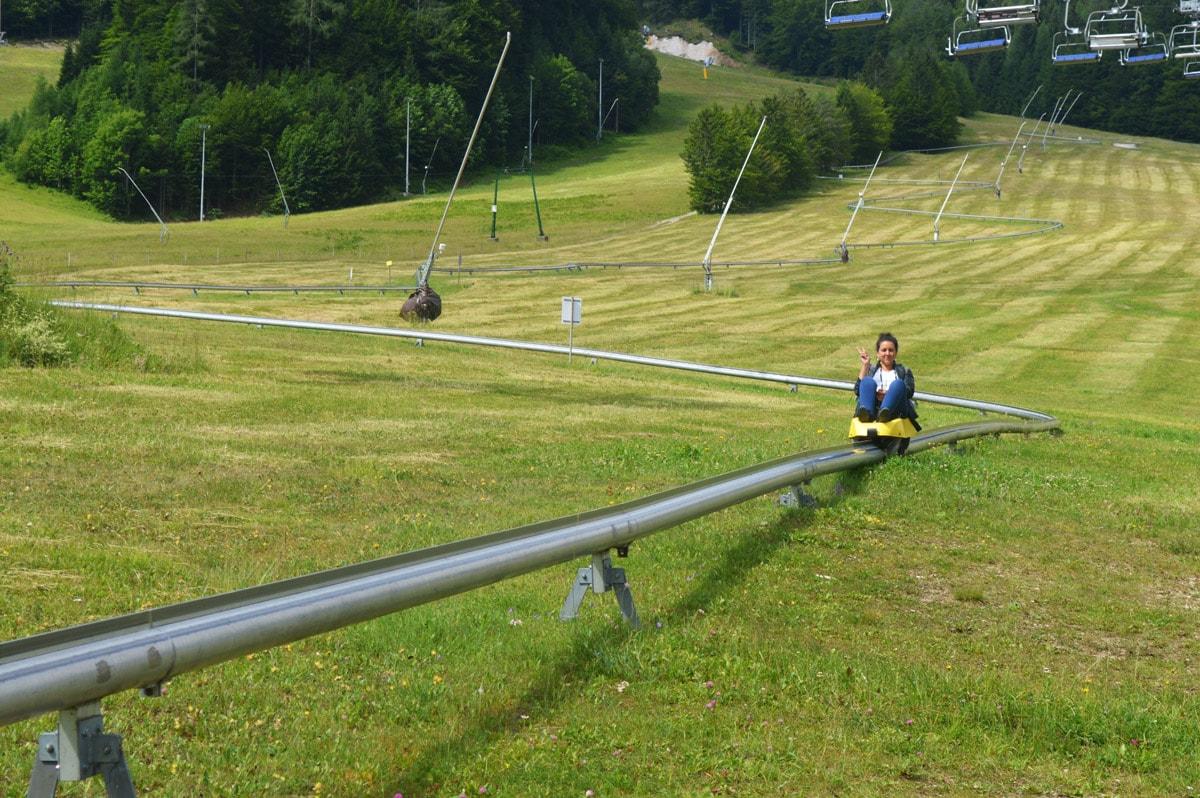 kranjska gora summer sledging in de bergen