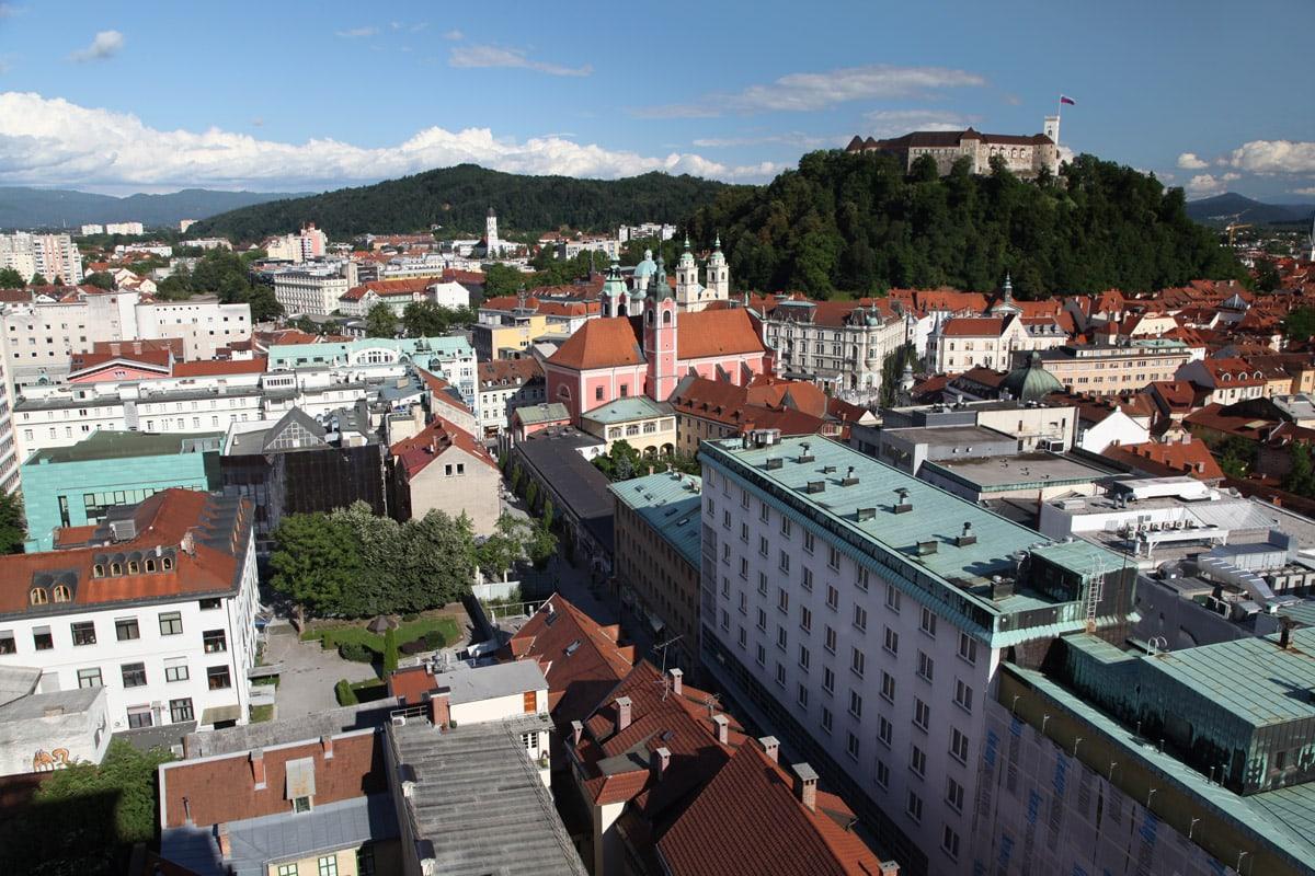 ljubljana slovenie hoofstad uitkijkpunt reisroute