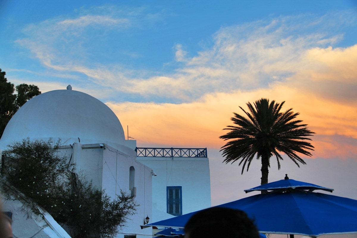 Zonsondergang in Sidi Bou Said