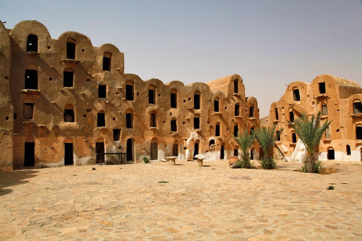 In de woestijn van Tataouine, Tunesië