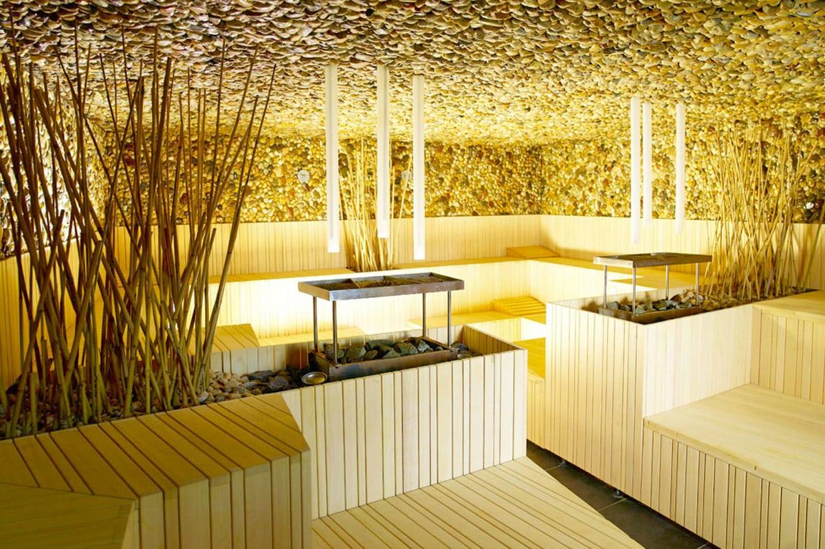 Saunaruimte in wellnesscentrum Orhidelia