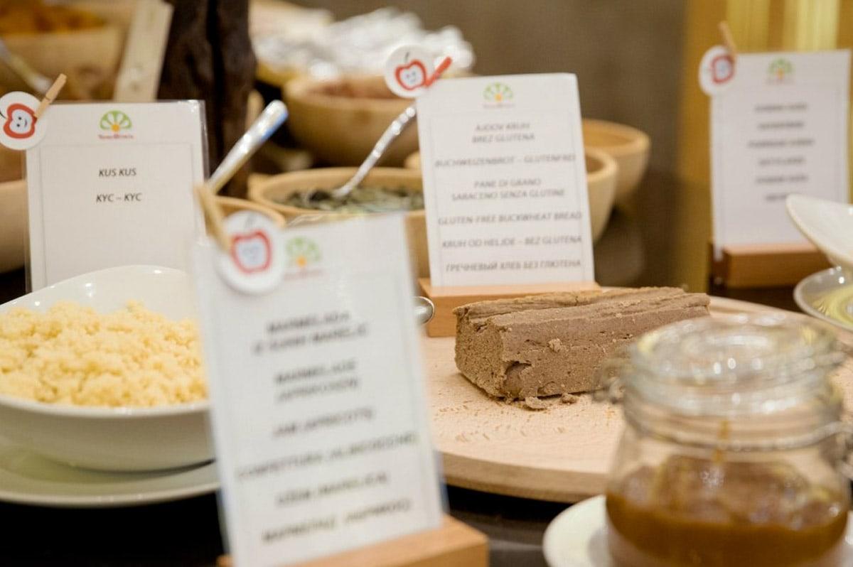 Gezond ontbijtje in hotel Sotelia
