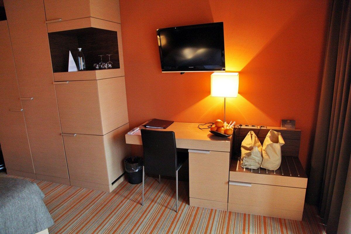 Hotelkamer in het Sotelia hotel in Slovenië