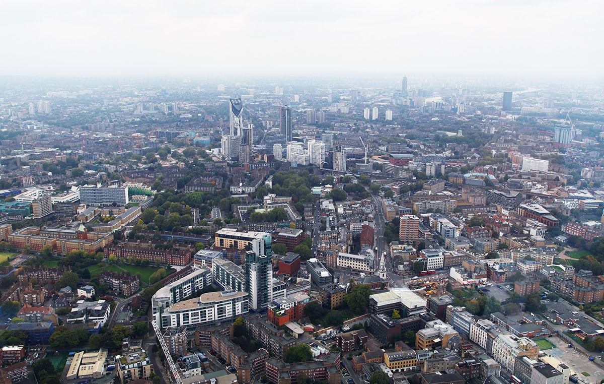 Uitzicht vanaf The Shard in Londen