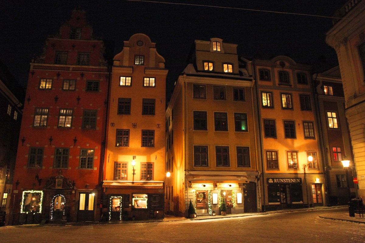 Gamla Stan oude stad Stockholm