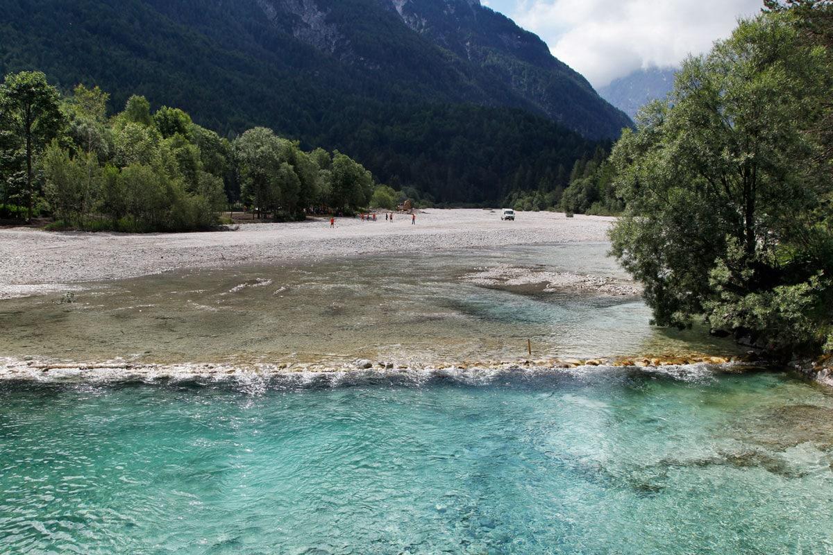 kranjska gora rivier slovenie