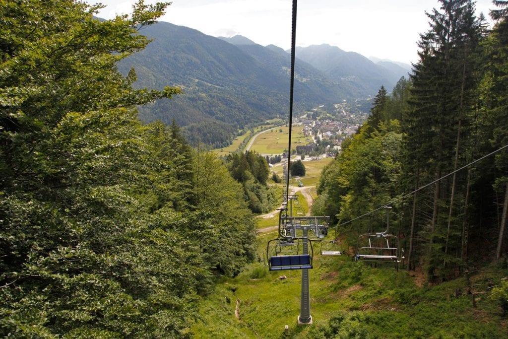 Skigebied Kranjska Gora Slovenië