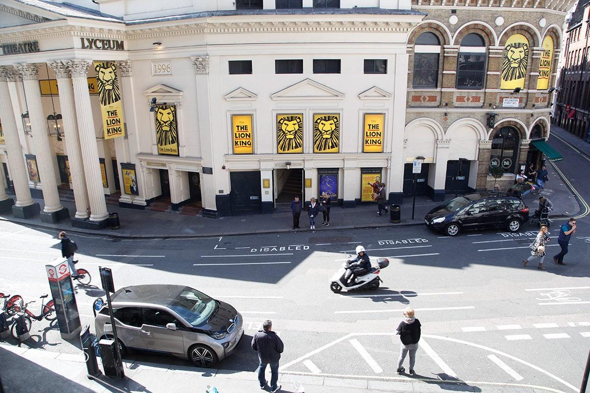 One Aldwych Hotel Londen - Uitzicht Lyceum Theater