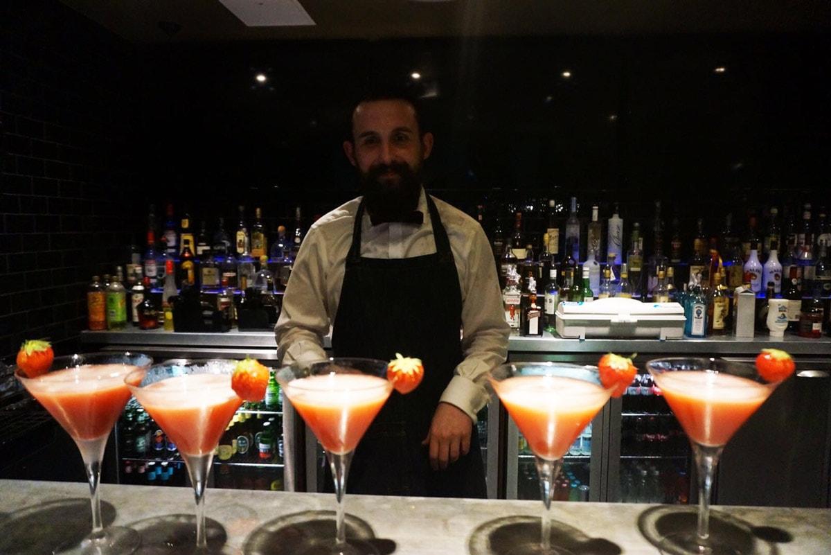 Malmaison bar in Dundee