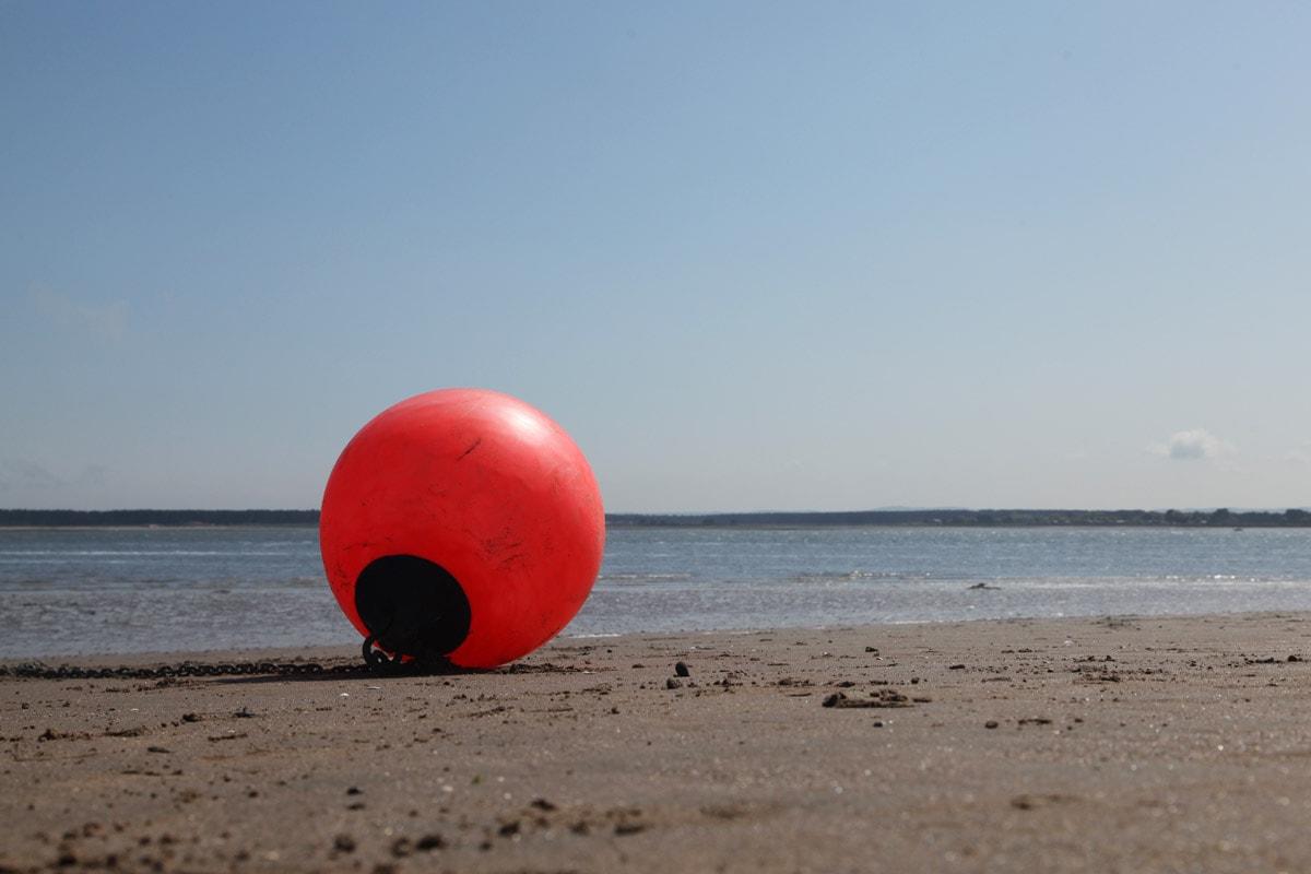 Stranden in Schotland bij Dundee