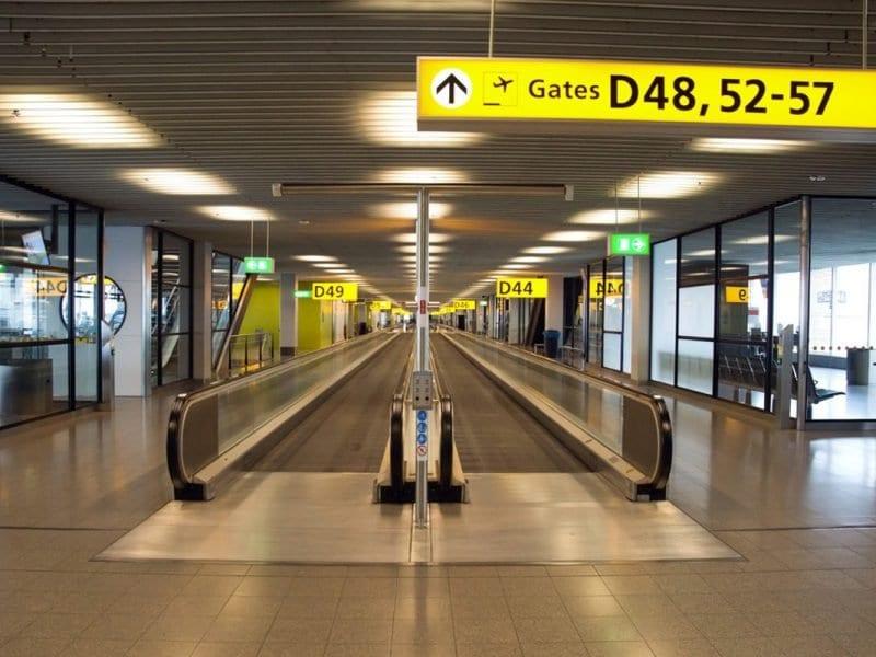 Gate D op Schiphol Airport
