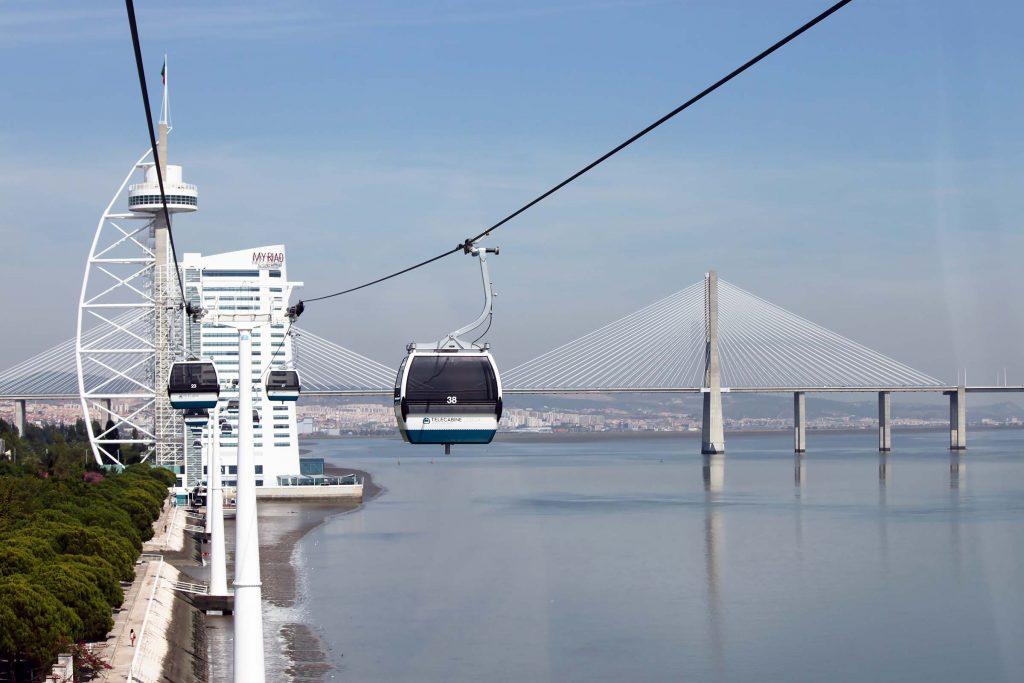 Telecabine kabelbaan in Lissabon