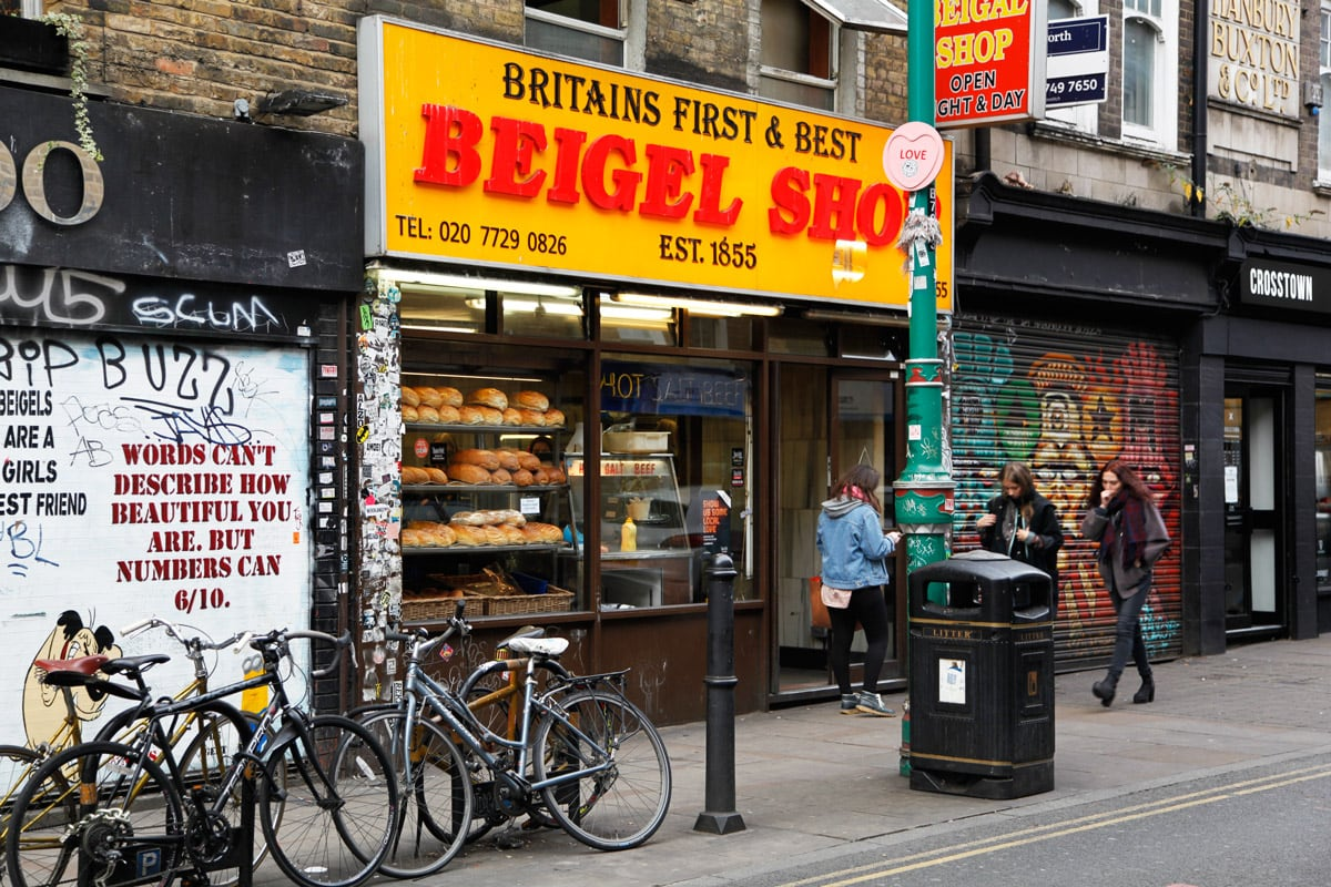 beigel shop londen brick lane shoreditch
