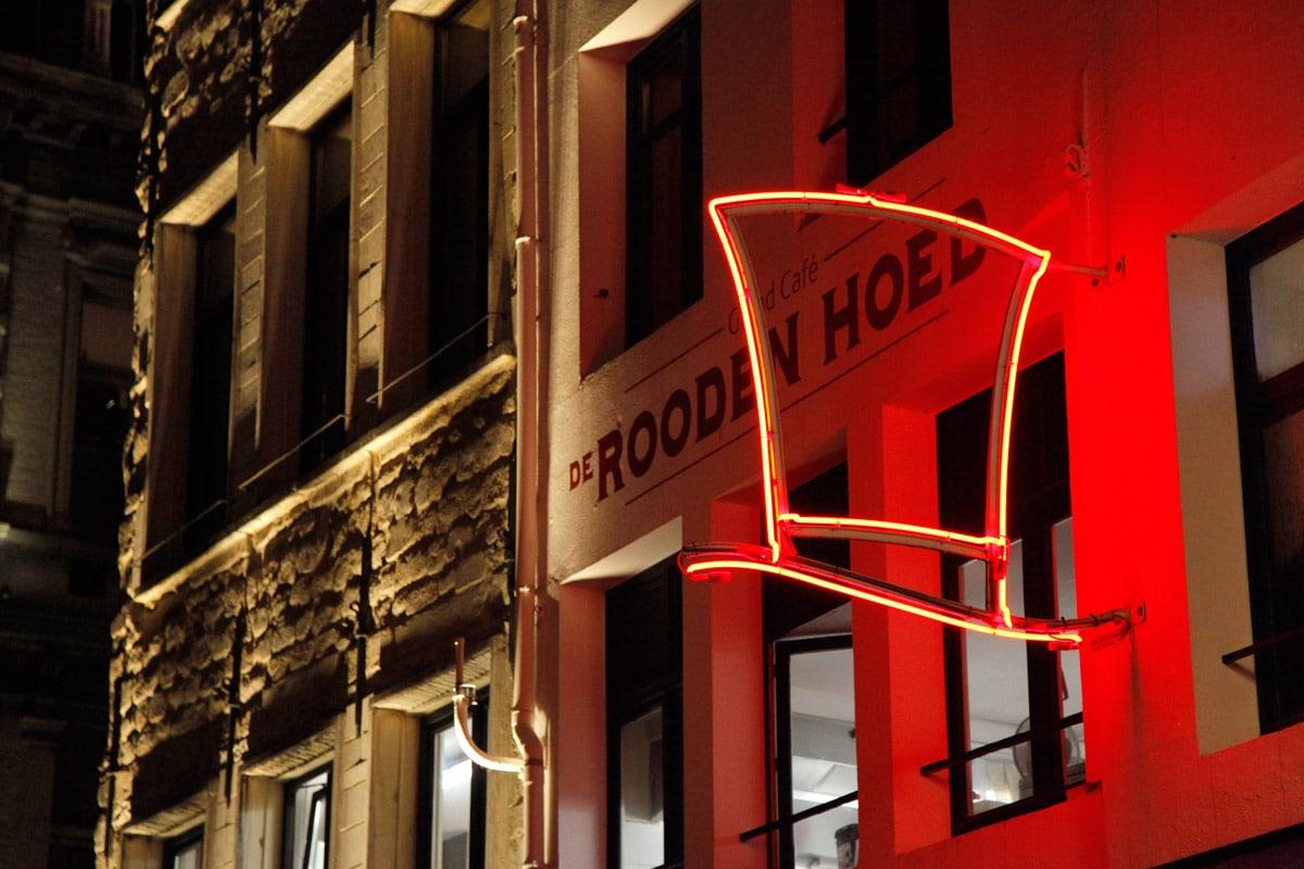 Restaurant de Rooden Hoed op de Oude Koornmarkt
