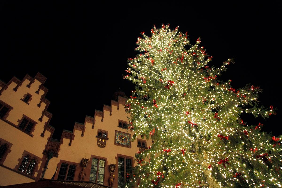 kerstmarkt frankfurt hoogste kerstboom