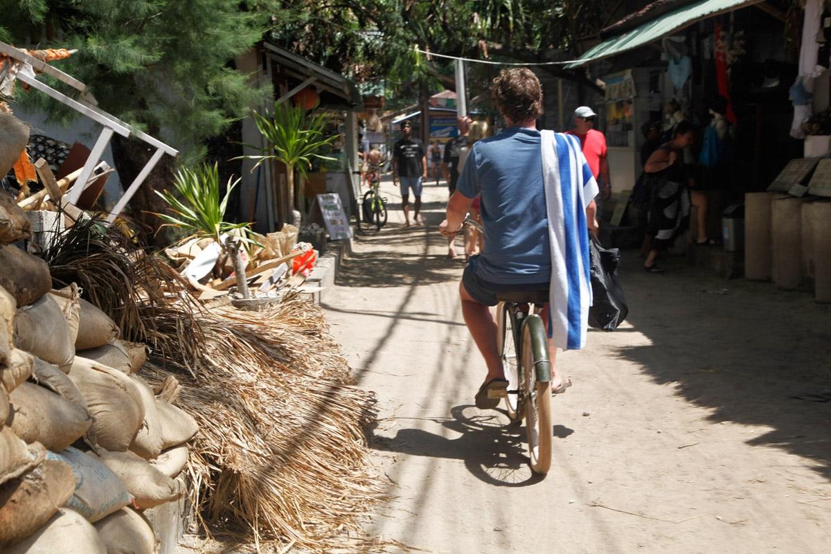 fietsen gili eilanden gili air gili trawangan