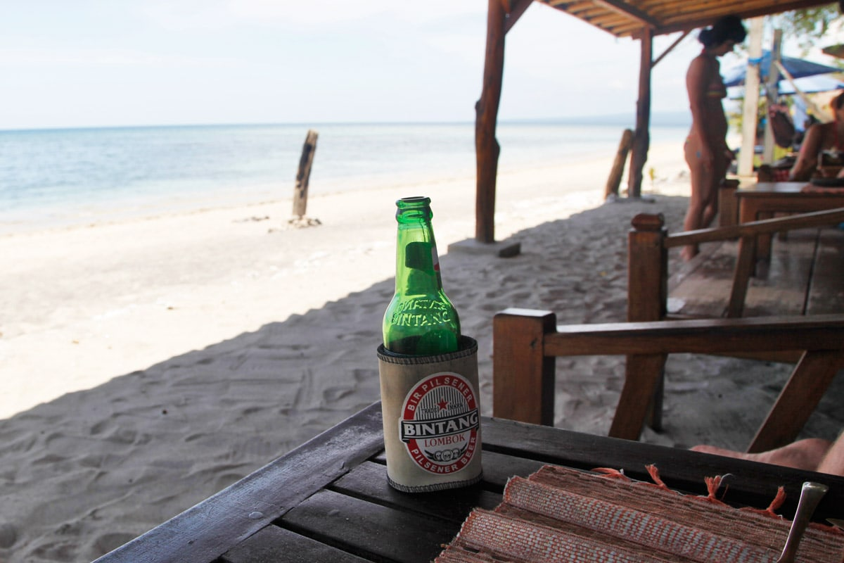 gili air legend bar bintang bier