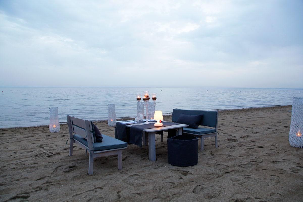 Ikos Olivia hotel diner op het strand