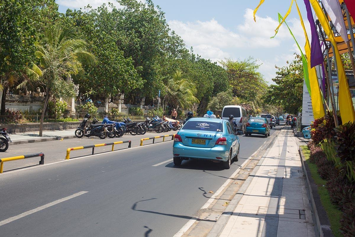 Reizen met de taxi in Bali