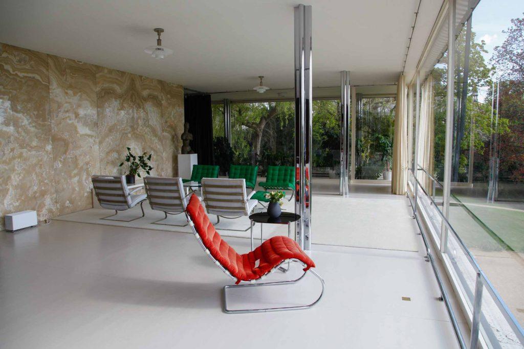 Modern interieur in Villa Tugendhat